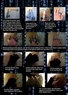 Molly Millions cosplay claws tutorial