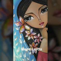 Romi Lerda Art (@romi_lerda_art) | Instagram photos and videos Fabric Painting, Painting & Drawing, Watercolor Paintings, Contemporary Art Daily, Indian Folk Art, India Art, Arte Popular, Angel Art, Beautiful Drawings