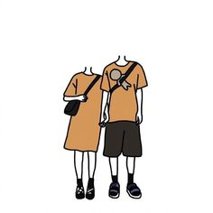 Anime Couples, Cute Couples, Chibi Body, Face Collage, Doodle People, Cute Couple Art, Beauty Background, Couple Wallpaper, Ulzzang Couple