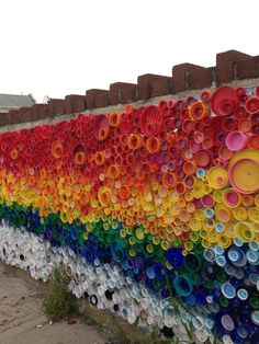 NPR - Great future in plastics: 'When the Beach Met the Bay,' a public-art mural of 24,000 bottlecaps collected by kids in Long Beach, New York, for Project Vortex with artist Lisa Be.