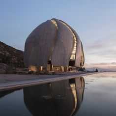 Sufi whirling dancers, and Japanese bamboo baskets were among the sources of inspiration for this sculptural temple in Chile by Hariri Pontarini Architects.