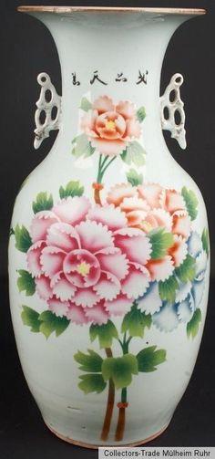 China 20. Jh. A Chinese Porcelain Baluster Vase - Vaso Cinese Chinois Fencai