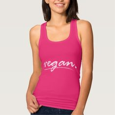 Vegan T Shirt Tank Tops
