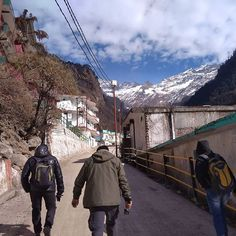 Sometimes you need to walk to reach destination.  #Uttarakhand #Uttaranchal #Chardham #trek #trekking #photography #goproin #goproindia #selfie #snowfall #snow #India #clouds #sky #roadtrip #motorcyclediaries #photo #instagood #vacation #snow #ride #backpacker #travelIndia #friends #pic #instahood #mountains #snowfall #Snowclad