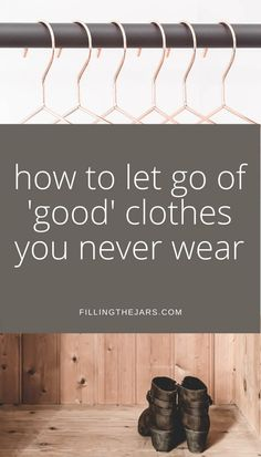 Does this sound like you? 'I have too many clothes but I like them all.' Stop making excuses and finally purge all those 'good' clothes you never wear. Declutter and organize your closet, which means you'll finally be able to see and wear the BEST of your wardrobe every day. #clutter #organizedcloset #organizing Closet Organization, Organizing, Stop Making Excuses, Clutter Free Home, Out Of The Closet, Staying Organized, Decluttering, Psych, Rid