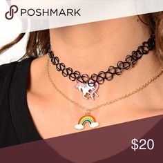 Rad Layered Choker Because who doesn't love unicorns and rainbows?   This item may or may not include a tag. The item in this listing is brand new. Nasty Gal Jewelry Necklaces