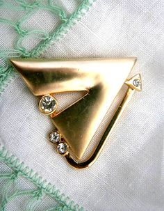 Vintage Costume Abstract Brooch by SokolProjectsVintage on Etsy, $15.00