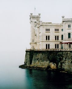 The Miramare Castle (Italian: Castello di Miramare; Slovene:Grad Miramar, German: Schloß Miramar) is a century castle on the Gulf of Trieste near Trieste, northeastern Italy. It was built from. Trieste, Oh The Places You'll Go, Places To Travel, Travel Destinations, Places To Visit, Voyage Europe, To Infinity And Beyond, Palaces, Adventure Is Out There
