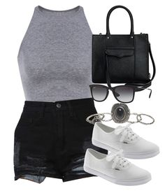 """""""Style #8496"""" by vany-alvarado ❤ liked on Polyvore featuring Wet Seal, Vans, Rebecca Minkoff and Ray-Ban"""