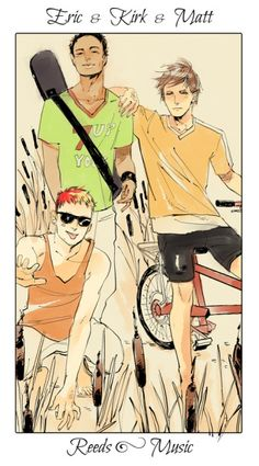 Shadowhunter Flower Series, Eric & Kirk & Matt; Reeds, art by Cassandra Jean