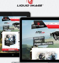 Liquid Image - webdesign for kamery-lic.pl by Marcin Wisniewski, via Behance