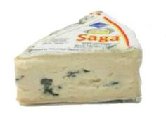 SAGA BLUE Notes: This well-regarded Danish blue cheese is soft, rich, and creamy. It's mild enough to be served to unadventurous guests, yet pungent enough to be interesting. Substitutes: Cambozola OR Brie OR Blue Castello