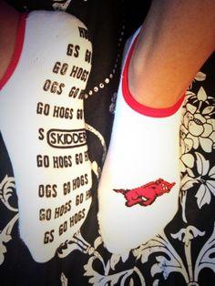 Arkansas Razorbacks Socks
