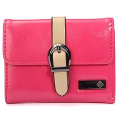 Color  Black,Blue,Green Pink,Purple,Rose Red    Material  PU Leather    Detailed Size  Height 9.5cm (3.74'') Length 12.5cm (4.92'') Width 2cm (0.78'')    Interior  1 Photo Window 1 Pockets,3 Credit Card Slots    Open Method  Button open      Package Included: 1 * Wallet