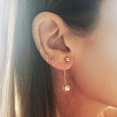 If you have a bunch of piercings, this is a nice way to keep it simple when you need to.