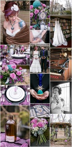 Inspirational #Wedding Ideas #184: Soft #Steampunk | get inspired at diyweddingsmag.com