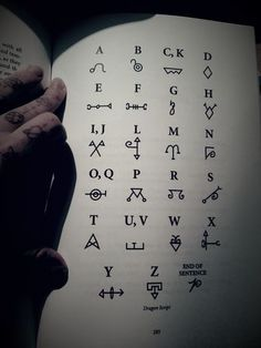 "witchessoul: ""Dragon script alphabet is one of the ways you can communicate with dragons. Its also a great tool to use with enchanting objects with draconic energy, I was reading a fantastic book..."