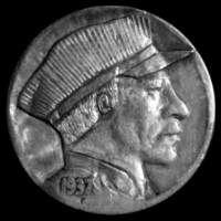 Ralph Perrico Hobo Nickel, Buffalo, Coins, The Originals, Rooms, Water Buffalo