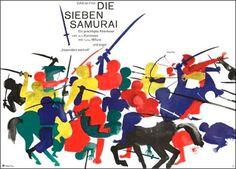 Seven Samurai. Designed by Hans Hillmann
