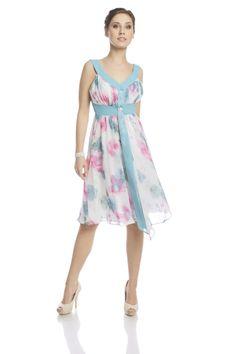 Sukienka FSU212 BIAŁY TURKUSOWY ŚREDNI Sukienka FSU212 BIAŁY TURKUSOWY ŚREDNI | Sukienki | Suknie Wizytowe | Suknie Wieczorowe | Garsonki | Fokus