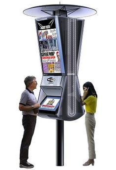 Outdoor fully interactive digital kiosk #kiosk #touchscreen #steeetkiosk