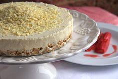 White Chocolate Cheesecake and Roasted Rhubarb with Blood Orange