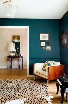 Petrol Farbe Schlafzimmer grüne Wandfarbe | Hanni | Wandfarbe grün ...