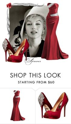 """""""Marilyn Forever and allways"""" by victoria-ronson ❤ liked on Polyvore featuring Badgley Mischka"""