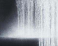 Waterfall, 2009, Natural Pigments on Japanese Mulberry Paper - Hiroshi Senju