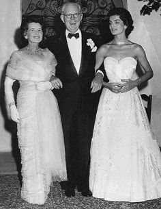 Jackie with Rose and Joseph Kennedy, the parents of her husband John F. Kennedy.