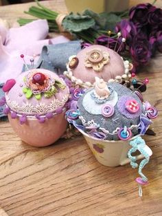 Adorable Coffee Cup Pincushions