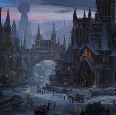 tumblr oof05hEdNg1v4fvg9o1 540 jpg 540×539 Fantasy concept art Fantasy landscape Fantasy city