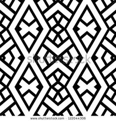 Find Abstract Seamless Black White Pattern Vector stock images in HD and millions of other royalty-free stock photos, illustrations and vectors in the Shutterstock collection. Thousands of new, high-quality pictures added every day. Black White Pattern, White Patterns, Black And White, Art Deco Pattern, Pattern Design, Vector Art, Vector Stock, Find Art, Fabric Design