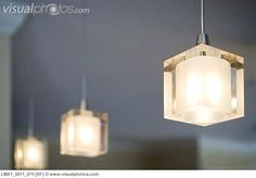 Cube pendant lights for the kitchen