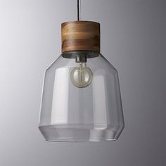 for bedside lighting-- like the band of warm wood element loft pendant light | CB2