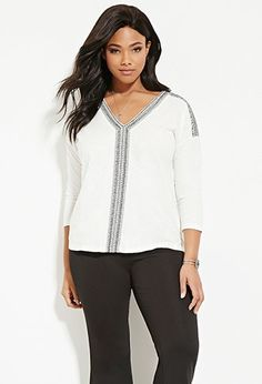 Embroidered Top   Forever 21
