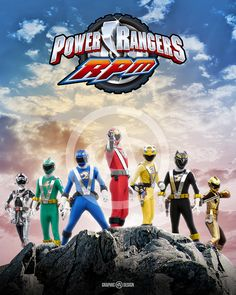 8+x+10+glossy+print+of+the+legendary+Power+Rangers+RPM.