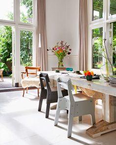 Love the light, windows, space, height.....Dutch home in a former children's nursery