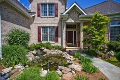 This Vienna Virginia landlord turned their front entry into a tranquil pond garden. Another McGrath Real Estate managed home.
