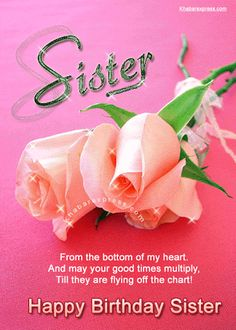 Happy birthday sister cards card world cup e card happy - Happy birthday images For Sister GIFs Happy Birthday Sister Cards, Sister Birthday Quotes, Happy Birthday Fun, Happy Birthday Messages, Happy Birthday Images, Happy Birthday Greetings, Sister Quotes, Birthday Prayer, Birthday Gifs
