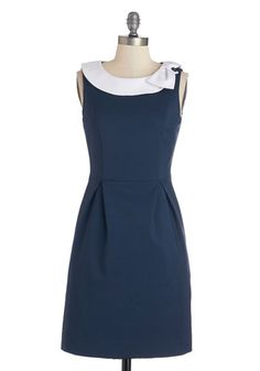 Extraordinary Executive Dress. Dress for the job of your dreams by donning this navy dress by Myrtlewood! #blueNaN