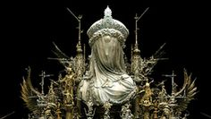 Unveiled Obscurity, post-industrial rococo sculpture by Kuksi