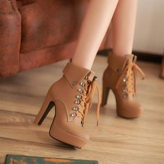 Free shipping fashion boots winter high heeled boots spring and female martin boots shoes -inBoots from Shoes on Aliexpress.com
