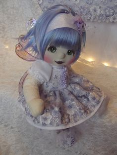 Gorgeous Mattel My Child Doll OOAK'ed into a purple flower fairy