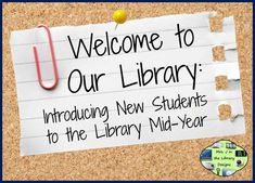 Introducing New Students to the Library Mid-Year with a FREEBIE Orientation Library Center | Mrs. J in the Library at A Wrinkle in Tech