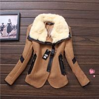 2014 Winter Coat Women Denim Jacket Casacos Femininos Desigual Down Parka Real Rabbit Fur Coat Wool Plus Outerwear Overcoat Winter Coats Women, Coats For Women, Sexy Lace Dress, Rabbit Fur Coat, Down Parka, Wool, Denim, Jackets, Fashion