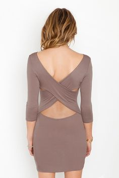 Cross Over Dress - fun back!