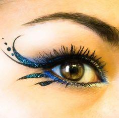 ışıltılı ve desenli göz makyajı 2015