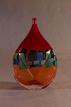 Ruby Dichroic Vessel | James Wilbat Glass Studio