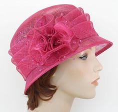 New Church Kentucky Derby Wedding Sinamay Ascot Cloche Dress Hat 1711 Hot Pink n #cc #DerbyChurchWeddingAscotDressHat